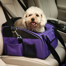 Purple Dog Cat Pet Car Seat Safety Travel Carrier Bag Shoulder Handbag Large UK