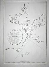 1797 San Francisco California map America Karte Perouse Kupferstich engraving