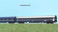 RIVAROSSI HR 4185 set 2 carrozze letti tipo MU ed M livrea blu ep. V