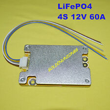 BMS PCB for 12V  14.8V 4S 60A LiFePO4 Battery with BALANCE for ebike escooter