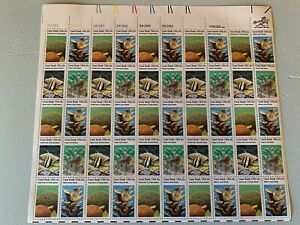 US Stamps SC# 1827-30 Coral Reefs sheet of 50 MNH 15c 1980