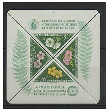 Ungarn 1958 postfrisch MiNr. Block 28  Kongreß Int. de Philatélie  FIP