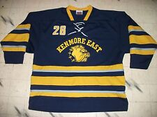GAME USED KENMORE EAST HIGH SCHOOL HOCKEY JERSEY, BUFFALO,NY LOOKS LIKE SABRES