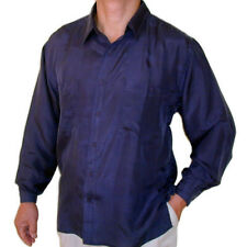 """New 100% Silk Shirts for Men S,M, L, Brand Name """"SURPRISE"""" NWT Navy"""