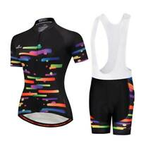 Ladies Cycling Clothing Kit Women's Cycle Jersey Top Padded (Bib) Shorts S-5XL