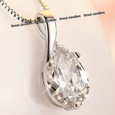 BLACK FRIDAY DEALS Silver Crystal Diamond Necklace Love Xmas Gifts For Her Women