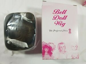 Bell Ceramics Doll Wig Cathy Light Brown Size: 11-12 #5834 NIB