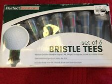 """Perfect Solutions Set of 6 Bristle Tees for Wood, Driver, & Oversize Clubs """"NEW"""""""