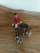 Austrian Cold Painted Bronze Bergman Hunt Group Horse & Dogs