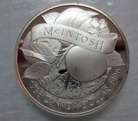 1996 CANADA JOHN MCINTOSH PROOF SILVER DOLLAR HEAVY CAMEO COIN