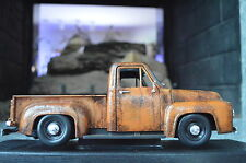 1:18 1953 Ford F-1 Barn Find Shop Truck Unrestored RAT ROD V8 HOT Patina Diecast