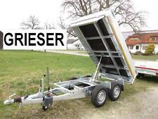 Neu 2000 kg Heckkipper Tandem Anhänger 256 x150 x30cm Alu BW ! EDUARD - GRIESER