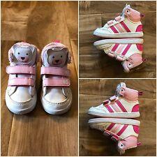 Adidas Size 5 1/2 Toddler Girl Shoes Tennis High Top Pink Polar Bear