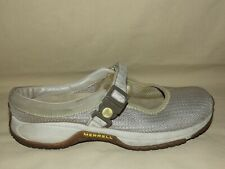 "WOMENS ""MERRELL"" ENCORE MJ BEIGE ADJUSTABLE STRAP MARY JANE CLOG SIZE 8 M"