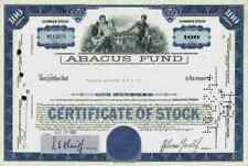 ABACUS Fund 1963 Massachusetts Rechenmaschine Wallstreet Broker Paine Webber 100