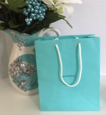 "Tiffany & Co. Blue Gift Bag Paper Shopping Jewelry SZ M 10"" X 8"" X 4"" NEW!"