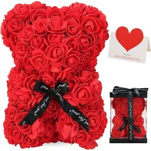 25 CM ROSE TEDDY BEAR FOAM VALENTANES DAY & BIRTHDAY GIFTS WITH BOX