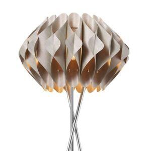 AZzardo stehlampe Ruben 156cm Tripod Stehleuchte Standleuchte Stahl Spiraldesign