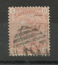 1873/80 Sg 152, 4d Vermilion (DE) Plate 15, fine used.