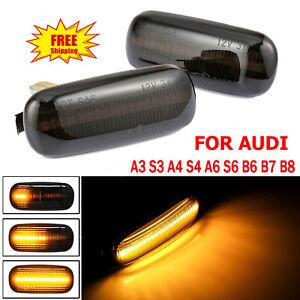 For Audi A3 8P A4 S4 RS4 B6 B7 B8 A6 Led Dynamic Side Marker Turn Signal Light