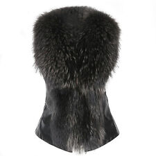 Womens Winter Fluffy Jacket Overcoat Vest Waistcoat Fur Warm Outerwear Coat Tops