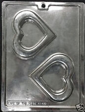 Valentine's Open Heart Frame Plaque Chocolate Plastic Candy Soap Mold LOP  V-139