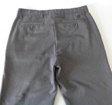 FootJoy Performance Golf Pants 34x30 Gray Flat Front and Cuff Stretch *FLAW* - A