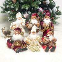 Christmas Ornaments Santa Claus Snowman Toy Sitting Doll Decorations Gift