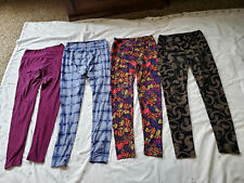 LuLa Roe Leggings Four Pair One Size Small Colorful Great Shape!