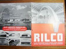 1947 RILCO Glued LAMINATED Wood Arches Trusses Beams Structural Framing Catalog