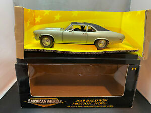Ertl American Muscle 1969 Baldwin Motion Chevy Nova Light Green 1/18 Diecast