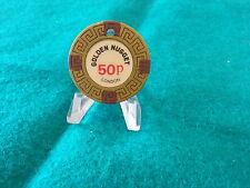 GOLDEN NUGGET CASINO SHAFTESBURY AVENUE 50P CHIP 1970'S
