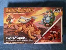ANCHILOSAURUS Dino-Riders GIG 1987 1/24 c/Scatola Giocattolo Vintage Anni 80
