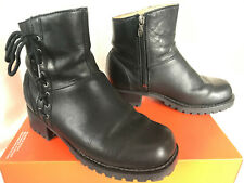Harley-Davidson Adriana 84386 Black Leather Zip Up Motorcycle Boots Women's 6.5