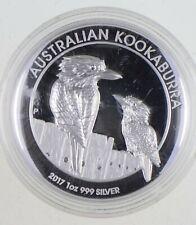 2017 Australian Australia Kookaburra High Relief 1 Oz Silver .999 *968