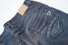 PLEASE Damen Hüft Jeans Hose Stretch Skinny Gr.S stone wash Röhrenjeans darkblue