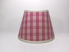 Country Waverly Pink Off White Cream Cranston Plaid Fabric Lampshade Lamp Shade