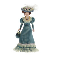 1:12 Dollhouse Victorian Lady Lace Dress Miniature People Porcelain Doll