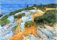 Sunday morning, Appledore by Childe Hassam Giclee Fine Art Print Repro on Canvas