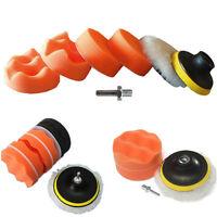 7Pcs BUFFING Pad voiture polissage Kit de roue tampon + perceuse adaptateur 6H