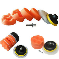 "7Pcs/set 3"" Buffing Pad Auto Car Polishing Wheel Kit Buffer + Drill Adapter EV"