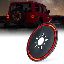 """Xprite 14"""" Spare Tire Wheel LED 3rd Brake Light for 2018-2020 Jeep Wrangler JK"""