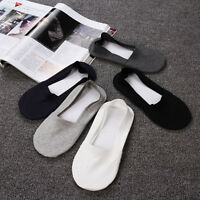 5pair Mens Thin Cotton No Show Socks Non Slip Low Cut Boat Liner Summer Socks