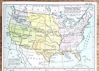 1906 United States Territorial Acquisitions Map Republic of Texas Colonies RARE