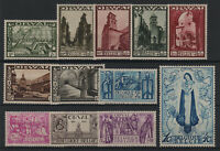 "BELGIUM YVERT TELLIER 363 - 374 "" ORVAL COMPLETE SET 12 STAMPS 1933"" MNH VF T939"