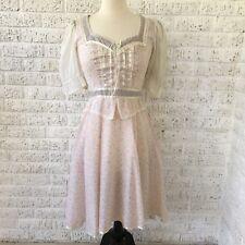 Gunne Sax Jeunes Filles By Jessica San Francisco Lace Floral Dot Vintage Dress