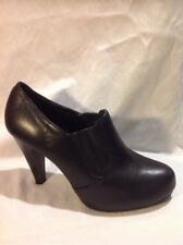 New Look Black Ankle Leather Boots Size 6