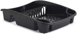 Whitefurze Dish Drainer, Plastic, Black, Large H33LD6
