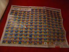 Paladin's Quest Super Nintendo SNES Foldble Promo Poster Weapons Monster Insert