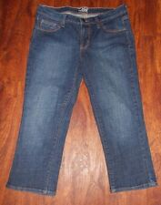 Women's Old Navy The Flirt Denim Blue Capri Jeans ~ Sz 4